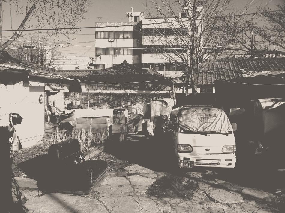 흑백 풍경사진