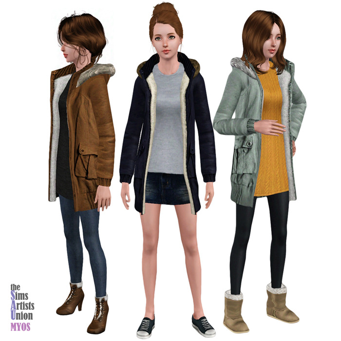 Empire Sims 3 Hooded Coat The Sims 3
