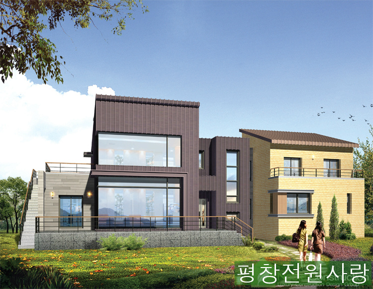 전원에 이런 현대식 주택도 어울립니다