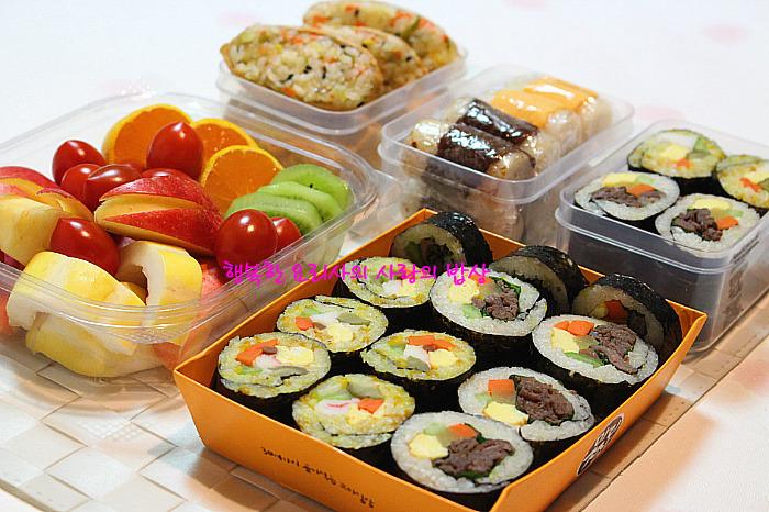 식어도 맛있어요. 남은 재료로 여러종류 김밥만들기