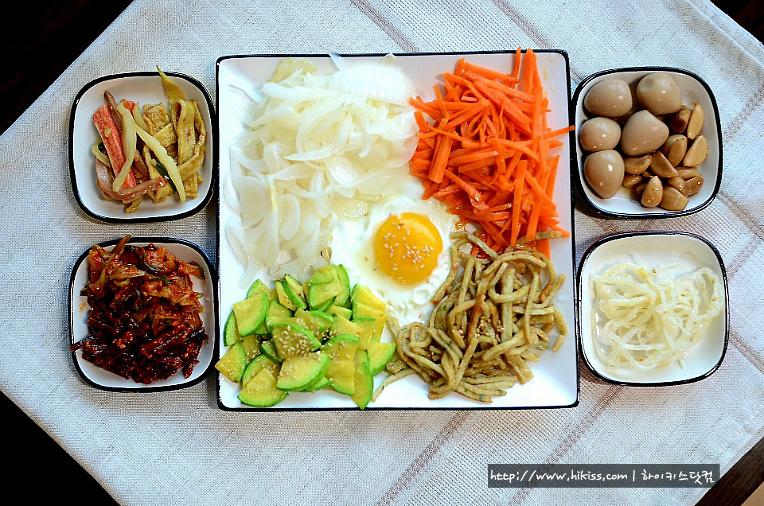 비빔밥거리들