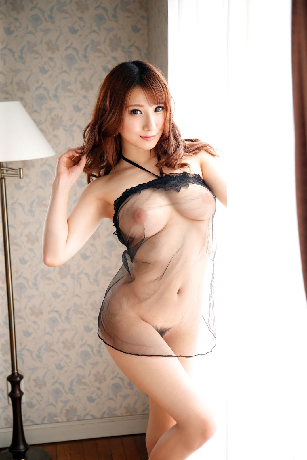 hot see through lingerie Japanese girl