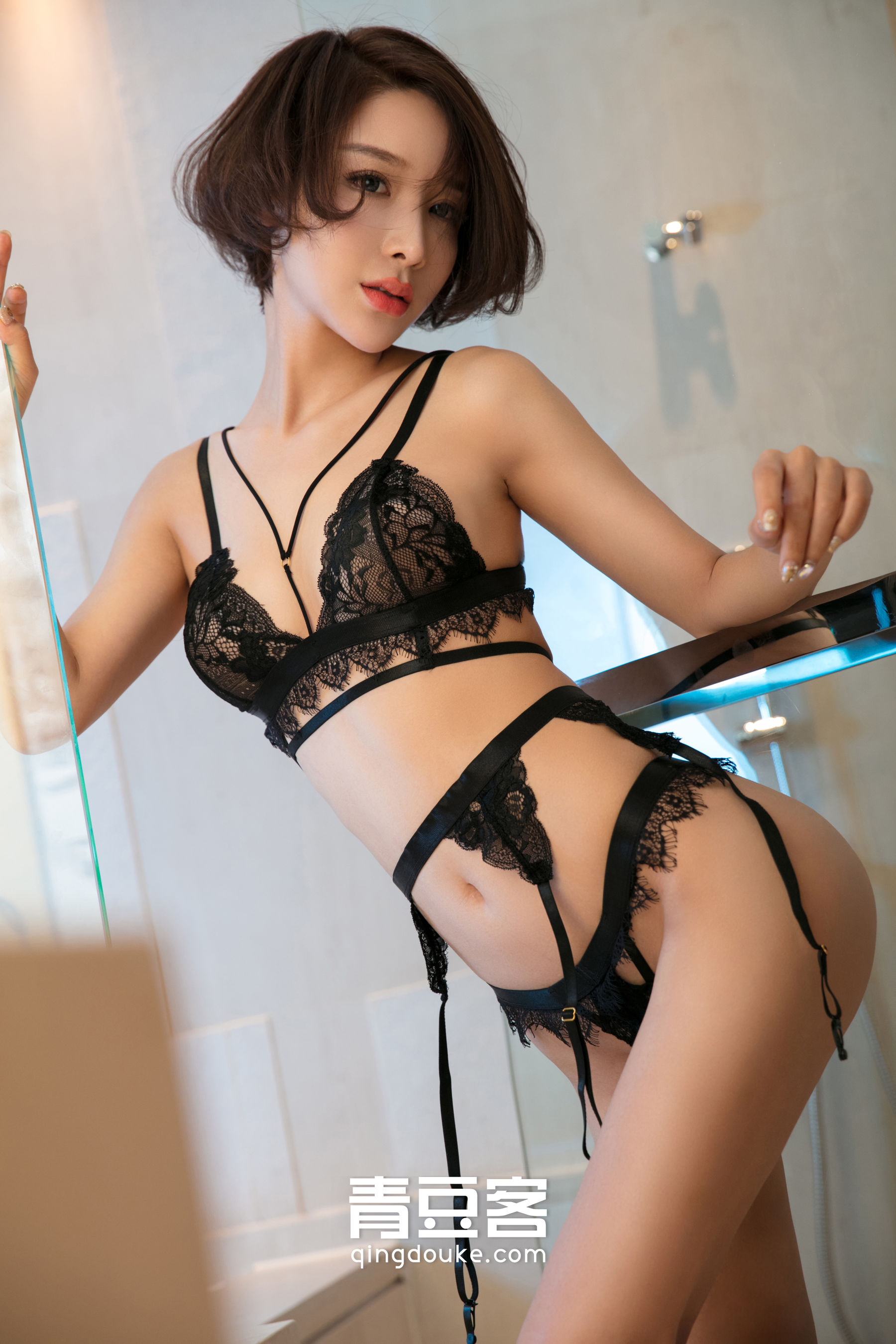 hot lingerie Chinese girl
